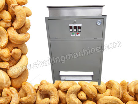 We offer premium quality Cashew Peeling Machines that have a capacity of peeling around 300kg/h cashew nuts.They play a multi-purpose role as they can be used with variety of nuts like almonds, peanuts or soybeans. This cashew peeling machine is specially developed to peel cashew nuts, separating the nuts kernels from its skin efficiently. This machine is a key part of cashew processing line, so it is a great choice for the factories specialized in cashew processing.